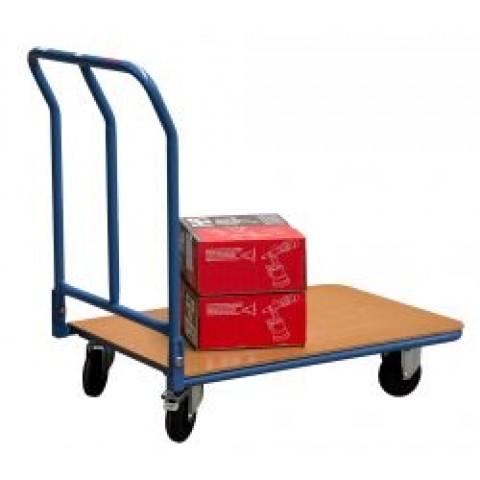 chariots roulettes dossier rabattable plateaux bois manudiscount. Black Bedroom Furniture Sets. Home Design Ideas